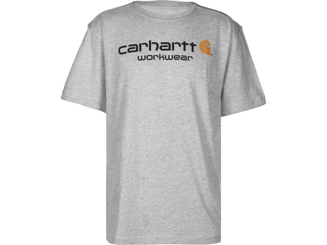Carhartt Core Logo Workwear T-shirt Heren, heather grey